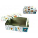 Großhandel Schmuck-Aufbewahrung: Box für kleine  rechteckige Metallmischung 14x1