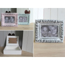 Wooden pastel photo box with ornamente
