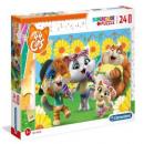 groothandel Speelgoed: Puzzel 24 maxi-element - 44 katten