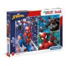 groothandel Puzzels: 3x48 puzzelstukjes van spider-man