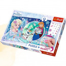 wholesale Licensed Products: Puzzle 54 plus  frozen magic magic stickers elsy