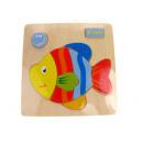 wholesale Wooden Toys: Wooden fish puzzle (15x15 cm)
