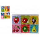 wholesale Wooden Toys: Wooden puzzle  animals mix set of 6 pieces (c