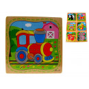 Wooden puzzle  animals mix 1sztuka 14,5x14,5 c