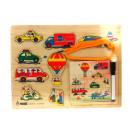 Puzzle, puzzle in legno 30x22,5 cm