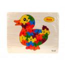 Großhandel Spielwaren: Puzzle, Puzzle, Entenholz, 22,5x18 cm