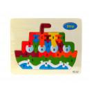 Großhandel Spielwaren: Puzzle, Puzzle, Holzschiff 22.5x18 cm