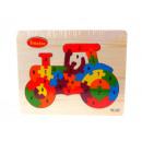 Puzzle, puzzle, tracteur à bois 22,5x18 cm