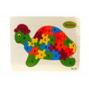Puzzle, puzzle, tortue des bois 22,5x18 cm