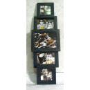 Großhandel Bilder & Rahmen: Rahmen kombiniert  5 Bilder 70x22 cm (beige, Flasch