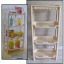 Großhandel Möbel: Bücherregal, 4  Badezimmer Regale Kunststoff-Pastel