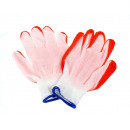 Traditional garden gloves with orange rubber 8
