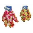 Guanti, guanti da giardino da donna con fiori