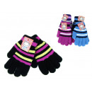 wholesale Gloves: Children's  gloves in colorful stripes 17 cm