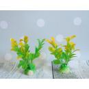 Pianta, albero per acquario verde e giallo 10x4