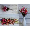wholesale Decoration: Rose bouquet 15 flowers 37x3,5 cm mix of colors