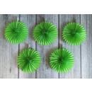 Rosette di carta decorative 20 cm verde - set