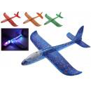 Avion à LED en polystyrène tout brillant couleur d
