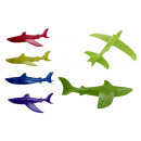 Avion en polystyrène mélangé couleur requin 46x45