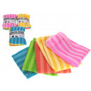 wholesale Cleaning: Cloth, microfiber cloth with stripes 30x30 cm -