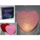 Led akril szív 14x14x7 cm