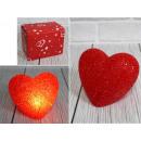 nagyker Egyéb: 11x9 cm-es izzó LED-es szív - 1 darab
