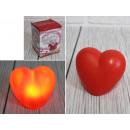 nagyker Egyéb: 7,5x6,5 cm-es izzó LED-es szív - 1 darab