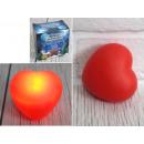 nagyker Gyertyák és gyertyatartók: 7,5x8 cm-es izzó LED-es szív - 1 darab