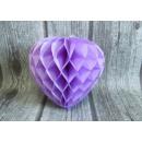 Rosetta cuore di carta 20 cm - viola chiaro
