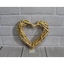 20 cm természetes rattan szív