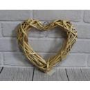 25 cm természetes rattan szív