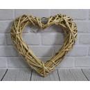 35 cm természetes rattan szív
