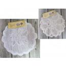 36 cm openwork round napkin - 2 piece set