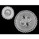groothandel Tafellinnen: Servet jacquard 25 cm wit - 1st