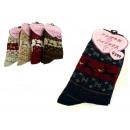 wholesale Stockings & Socks: Women's heavy  reindeer socks - 1 pair