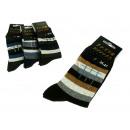 Großhandel Strümpfe & Socken: Herrensocken dicke Stäbe - 1 Paar