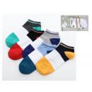 Chaussettes homme 3 couleurs à talon coloré