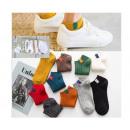 Chaussettes, chaussettes une couleur avec un tampo
