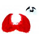 nagyker Játékok: Wings tollal, fekete, piros 40x30 cm sem
