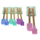 wholesale Kitchen Utensils: Sl spatula + silicone brush with wooden handle