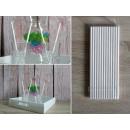 wholesale Kitchen Utensils: White drinking straws 19 cm 6 mm 25 pieces