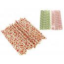 wholesale Shoes: Compact paper  straws set 22 pieces (19.5x1 c