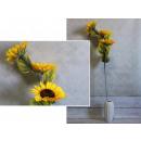 Girasole 3 pezzi di fiori 95x14 cm