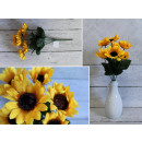 wholesale Decoration: Sunflower bouquet of 7 flowers 30x6 cm