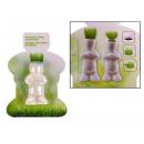 grossiste Articles Cadeaux: Drôle de figurine en porcelaine de la tête - herbe