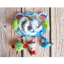 Plush spiral with pendants for a stroller, crib