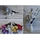 wholesale Decoration: Orchid bouquet 19 flowers 43x8 cm mix of colors