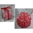 Sfera di candela in rose rosse 6 cm