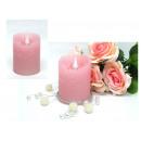Batterie a candela in cera a LED, rosa, 10x7