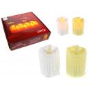 Led műanyag gyertya mozgó lángokkal 7.5x5 cm